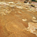 Close up of the spiral engravings at Tchitundu Hulu. Image ID: angtch0010009