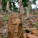 Tutu Fela, Ethiopia. Recently repaired stele, now positioned at foot of cemetery. Image ID: ethsid0010008