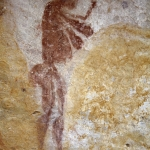 Close-up of one of a painted female figure, SOASWC0050011