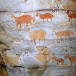 Paintings of fat-tailed sheep, SOASWC0120024