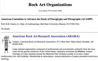 Rock Art Organizations
