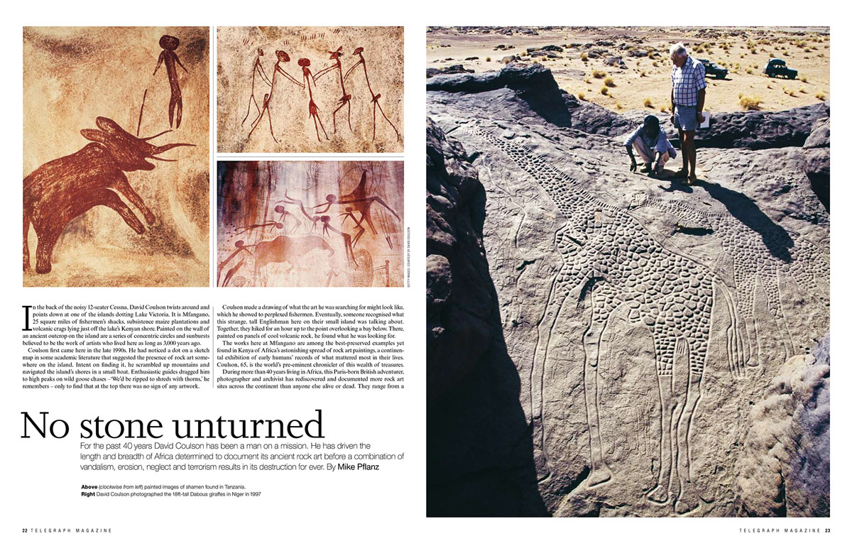 African Rock Art, TARA, Trust for African Rock Art, David Coulson, Alec Campbell, Telegraph magazine