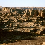 Tarssed Jebest, Algeria. View across the Ajjer Plateau. Image ID: algtdj0010001