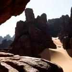 Tassili du Siniga. High sandstone cliffs. Image ID: chatds0050001
