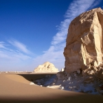 Wadi el Obeyied. Limestone inselberg near site in Wadi el-Obeiyed. Image ID: egyweo0010003