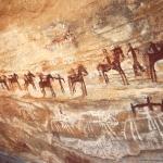 Tagant, Mauritania. Line of horsemen. Image ID: mauaio0010017