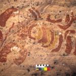Multiple human figures painted in strange stylised shapes, SOASWC0020016