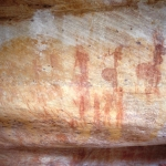 Painting of several female figures with large buttocks, SOASWC0050008