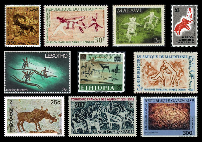 African rock art stamps: square inches of heritage