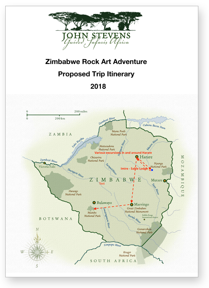 Zimbabwe Rock Art Adventure, TARA, Trust For African Rock Art